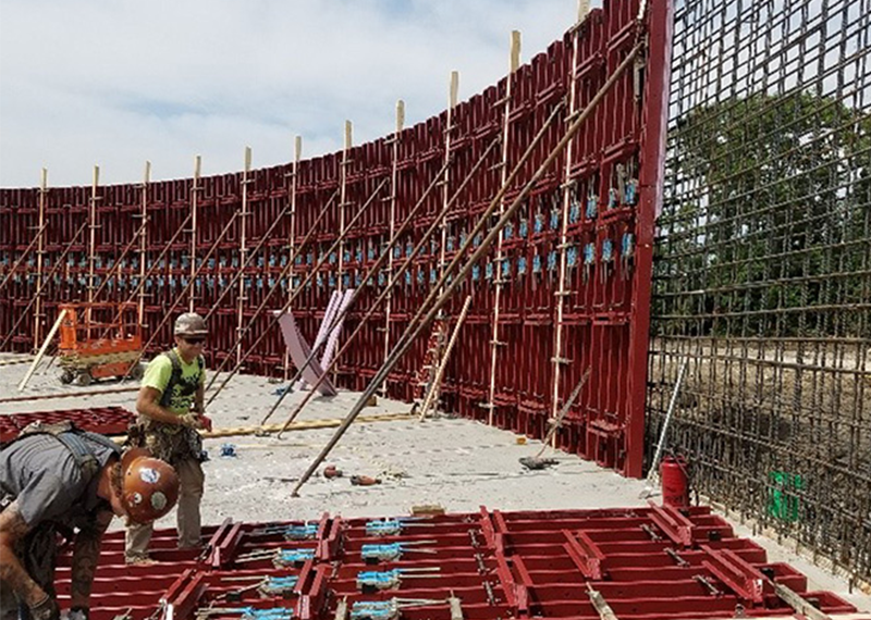 Concrete tanks and curved walls quickly take shape with the SureCurve™ RC forming system from SureBuilt Concrete Forms & Accessories