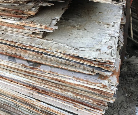 Used concrete forming plywood Chicago Contractors Supply